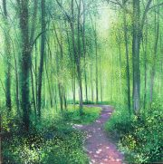 John Connolly Early Summer Walk II pathway in woods