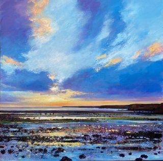 John Connolly Rock Pool Sparkle seascape painting