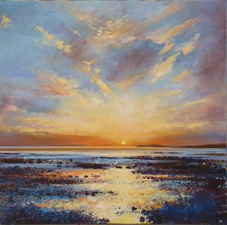 John Connolly Rockpools Compton Bay painting