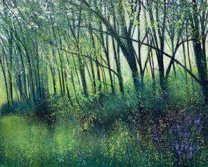 John Connolly Springtime Hedge unframed woodland landscape