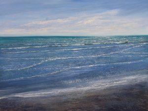 West Wittering 100x76cm Grace Ellen M seascape art for sale