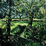 Ian Mowforth Dixter April Light green tree painting