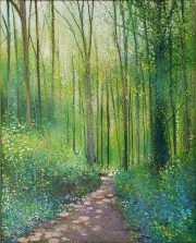 John Connolly Bradgate Woods pathway painting