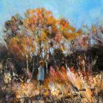 Julie Cross Autumn Amble impressionist landscape