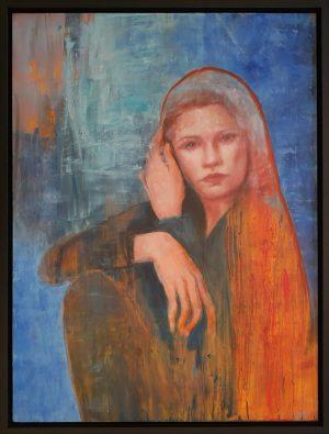 Julie Cross Big Red framed