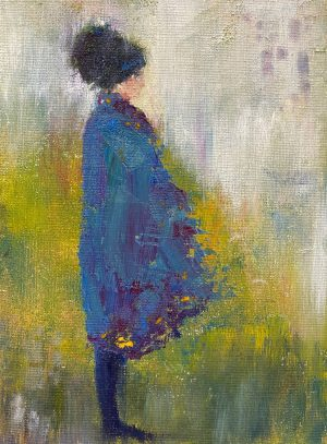 Julie Cross Cape blue impressionist figure painting