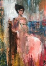 Julie Cross Elegance pink impressionist figure painting