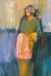 Julie Cross Taking A Break modern figurative painting
