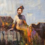 Julie Cross The New Dress seated figure painting