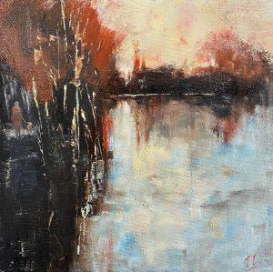 Julie Cross Walk Alongside modern abstract landscape