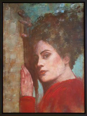 Julie Cross Wallflower framed