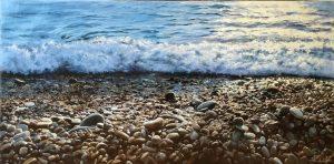 Pau Navarro Pebble Beach realisitic seascape painting