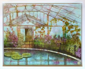 Emma Forrester Kew Waterlily House framed