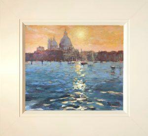 John Hammond A Venice Evening framed