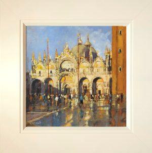 John Hammond Blue and Gold framed