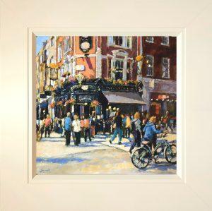 John Hammond Busy Corner Covent Garden framed