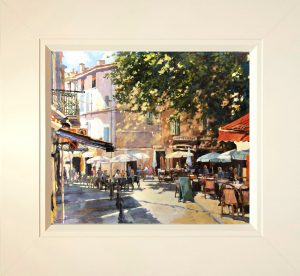 John Hammond Morning Coffee Leafy Square framed