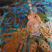 Paul Fearn Predator lionfish bronze painting