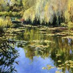 John Hammond Summer Blue pond painting