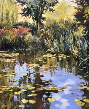 John Hammond Towards the Garden Giverny painting