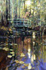 John Hammond Perfect Moment giverny bridge paintng