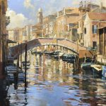John Hammond Gentle Sun venice bridge painting