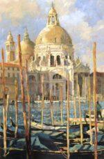 John Hammond Sun on The Salute gondola painting