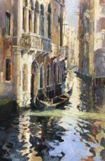 John Hammond Dancing Light italian canal painting