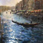 John Hammond Lights Rialto venice painting