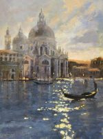John Hammond Nocturne salute venice painting