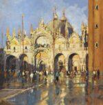 John Hammond Blue and Gold st marks basilica art