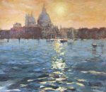John Hammond A Venice Evening sunset painting