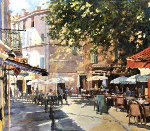 John Hammond Morning Coffee Leafy Square painting