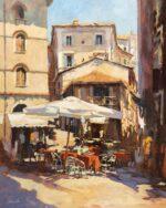 John Hammond Piazza Cafe Perugia painting