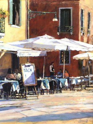 John Hammond Table for Two al fresco cafe painting