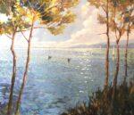 John Hammond Soft Light Through the Trees painting