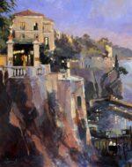 John Hammond Evening Lights Sorrento painting
