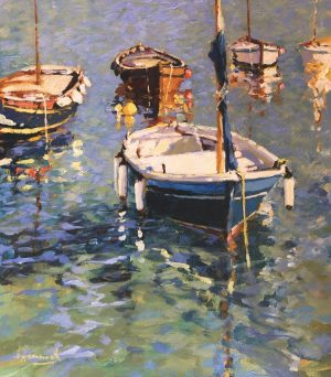 John Hammond Bathed in Sunshine boat painting