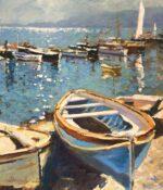 John Hammond Shoreline mediterranean boat painting