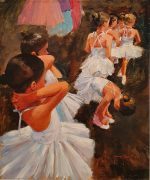 John Haskins The Ballet Dancers impressionist painting