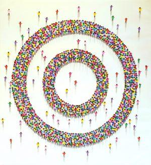 Juan Aliaga Circles of Fun colourful circle painting
