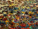 Leonard Dobson The Lily Pond abstract painting