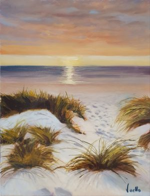 Vaello Sunset Beach painting