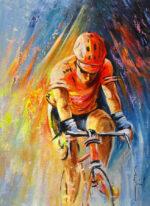 the lonesome rider miki de goodaboom cyclist art