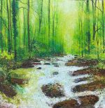 After the rain John Connolly 80x80 unframed stream painting