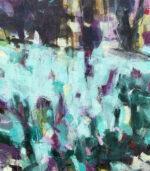 David Brett Field Of Dreams abstract blue purple art