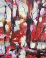 David Brett Take It As Red light trees painting