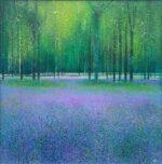Dawn Chorus John Connolly framed 2 modern bluebells painting