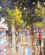 JH01 17 After the Rain The Promenade Cheltenham 60x50cm painting