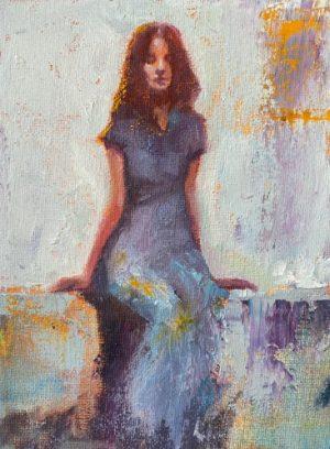 Julie Cross Bench modern figurative painting